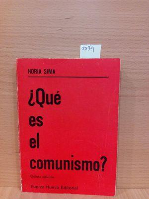 ¿QUÉ ES EL COMUNISMO?