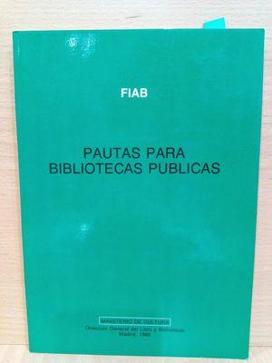 PAUTAS PARA BIBLIOTECAS PUBLICAS