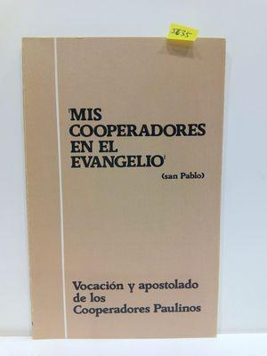 MIS COOPERADORES EN EL EVANGELIO. VOCACIÓN Y APOSTOLADO DE LOS COOPERADORES PAULINOS