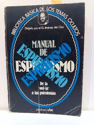 MANUAL DE ESPIRITISMO.