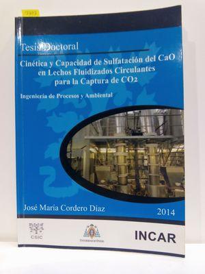 CINÉTICA Y CAPACIDAD DE SULFATACIÓN DEL CAO EN LECHOS FLUIDIZADOS CIRCULANTES PARA LA CAPTURA DE CO2. INGENIERÍA DE PROCESOS Y AMBIENTAL. TESIS DOCTORAL.