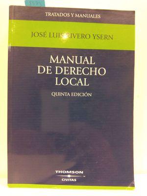 MANUAL DE DERECHO LOCAL. QUINTA EDICIÓN