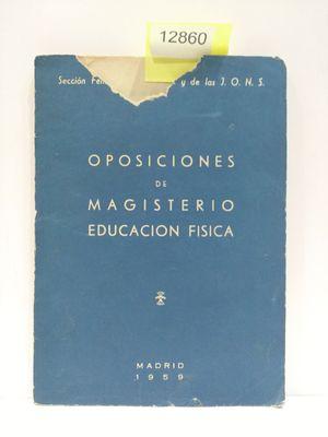 OPOSICIONES DE MAGISTERIO DE EDUCACIÓN FÍSICA
