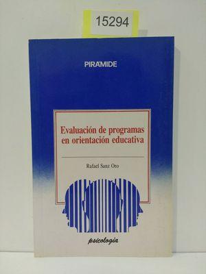 EVALUACIÓN DE PROGRAMAS EN ORIENTACIÓN EDUCATIVA