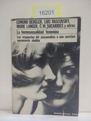 LA HOMOSEXUALIDAD FEMENINA