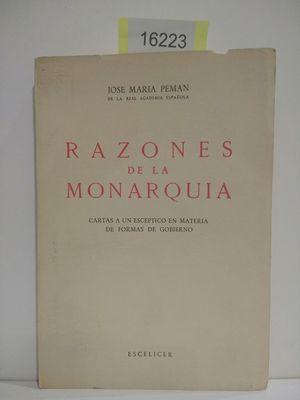 RAZONES DE LA MONARQUÍA