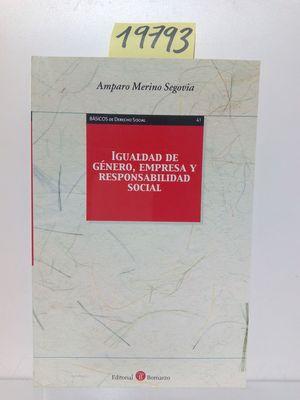 IGUALDAD DE GÉNERO, EMPRESA Y RESPONSABILIDAD SOCIAL