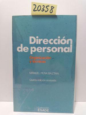 DIRECCIÓN DE PERSONAL. ORGANIZACIÓN Y TÉCNICAS