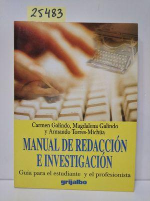 MANUAL DE REDACCION E INVESTIGACION