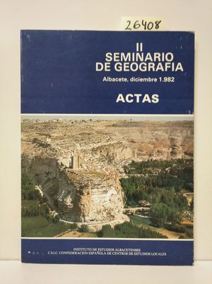 SEMINARIO DE GEOGRAFÍA, SEGUNDO. ACTAS
