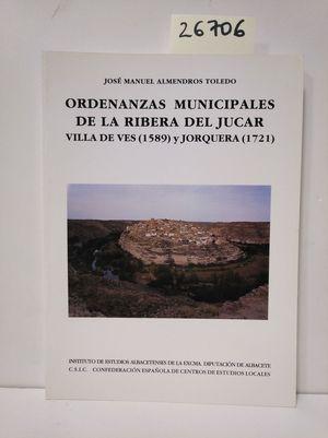 ORDENANZAS MUNICIPALES DE LA RIBERA DEL JÚCAR