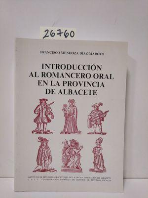 INTRODUCCIÓN AL ROMANCERO ORAL EN LA PROVINCIA DE ALBACETE