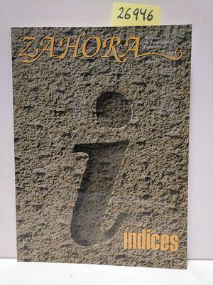 ZAHORA Nº 20. ÍNDICES