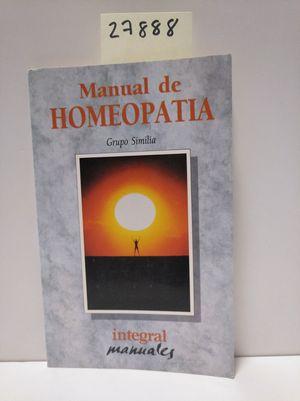 MANUAL DE HOMEOPATÍA