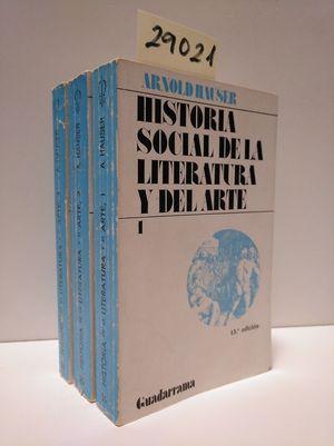 HISTORIA SOCIAL DE LA LITERATURA Y DEL ARTE.