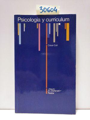 PSICOLOGÍA Y CURRÍCULUM