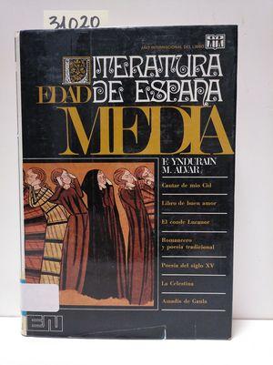 LITERATURA DE ESPAÑA. TOMO I: EDAD MEDIA