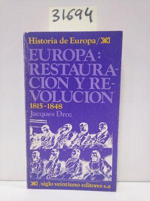 EUROPA, RESTAURACIÓN Y REVOLUCIÓN. 1815-1848