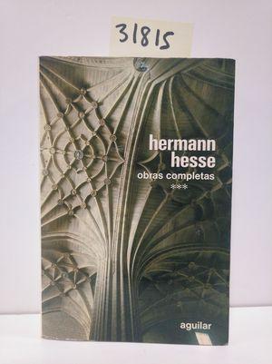 HERMANN HESSE. OBRAS COMPLETAS. VOL.3