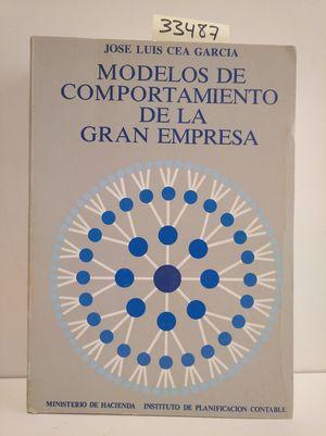 MODELOS DE COMPORTAMIENTO DE LA GRAN EMPRESA