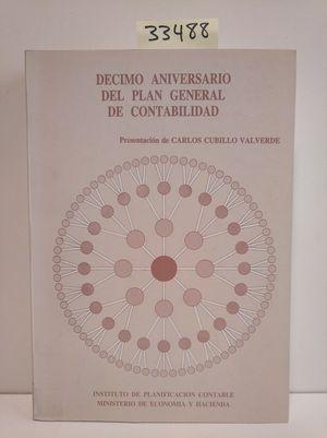 DÉCIMO ANIVERSARIO DEL PLAN GENERAL DE CONTABILIDAD