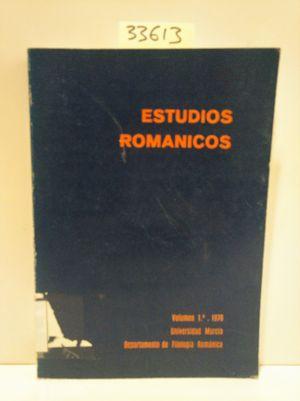ESTUDIOS ROMÁNICOS. VOLUMEN 1